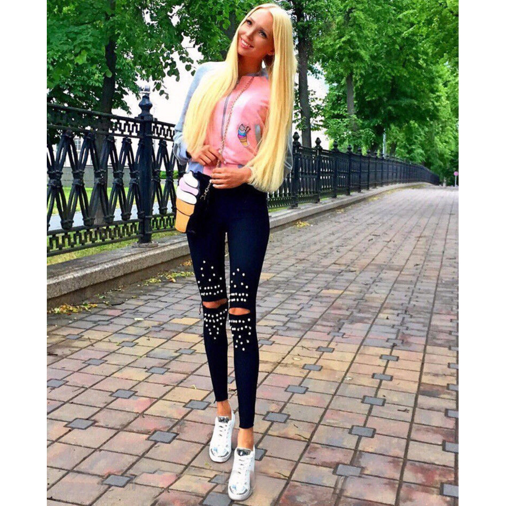 2017 summer autumn casual long pants women mori girl stretch pants sexy skinny female mid waist black pants