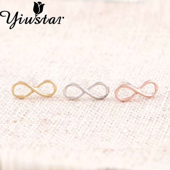 Yiustar 20pcs/lot 2017 New Fashion Hot Gold color Unique Eternity Infinity Earrings for Women Party Gifts ED005