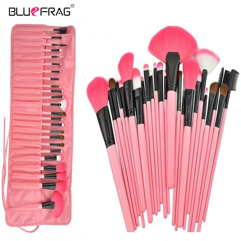 BLUEFRAG Makeup Brushes Set & Kits Professional 24 Pcs Portable Facial Full Cosmetic Brush Tools Kit Makeup Accessories 3 Color