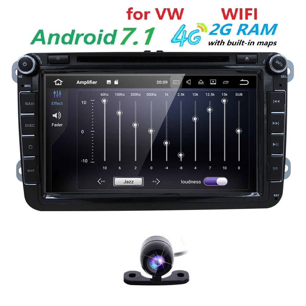 8 &39;&39; RAM 2G Araba DVD için Volkswagen/VW golf 4 golf 5 6 touran passat B6 jetta sharan caddy transporter t5 polo tiguan android 7.1