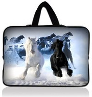 Free Shipping Horse 15 Nice Laptop Sleeve Case Bag+ Hide Handle For 15.6 Acer HP Dell Samsung