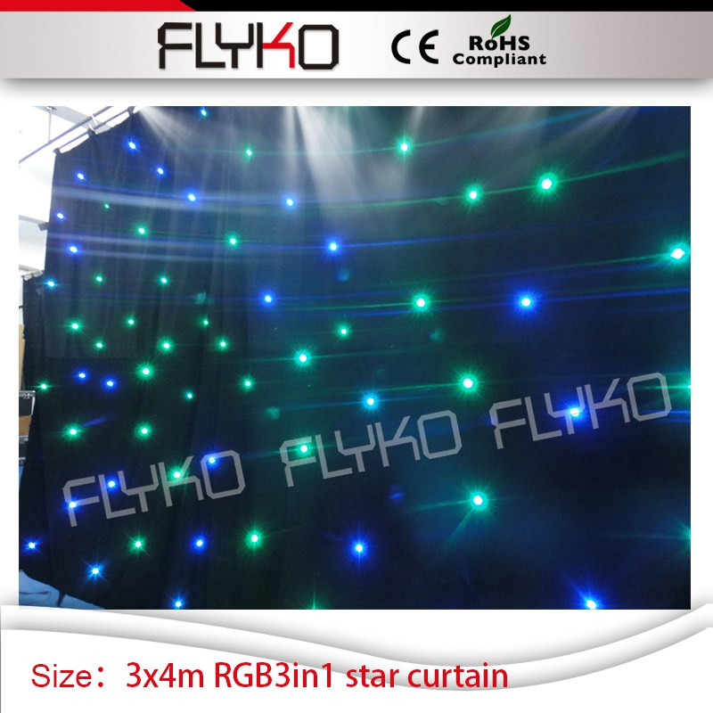 wedding full color soft flexible led backdrop led star curtain 10ft by 14ft