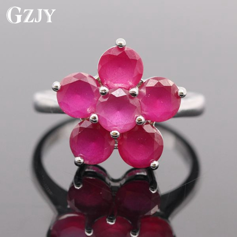 GZJY Beautiful Flower Zircon White Gold Color Rings For Women Wedding Party Accessories G13-1